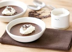Dark Chocolate Pot de Crèmes with Sea Salt