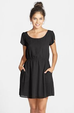Frenchi® Frenchi Tulip Sleeve Dress (Juniors) available at #Nordstrom