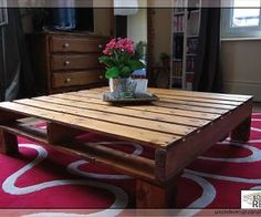 Pallet coffee table...I so want to do this!