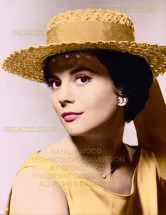 NATALIE WOOD TECHNICOLOR CONVERSION BY BEDAZZZLED ARTIFACTS REMOVED AND ENLARGED FROM B/W IMAGE