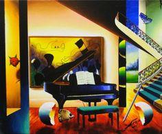 "Original Painting ""Grand Piano"" by (Fernando de Jesus Oliviera) Ferjo"