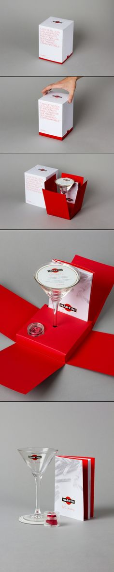 Martini by Martín Berasategui Advertising company: 6 Grados Design of the welcome pack for the ceremony / dinner / event that Martini organized in Italy, led by Martín Berasategui, where the secret formula of this famous vermouth was revealed.