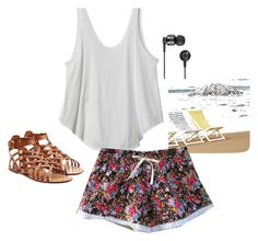 Let's go Beach ! by momochanko on Polyvore featuring RVCA, Valentino, Nixon and West Elm