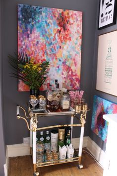 Love this bar cart