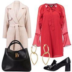 Il vestito rosso  outfit donna Chic per tutti i giorni  aa9791e46a9