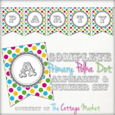 The Cottage Market: Free Complete Autumn Alphabet and Number Banner Bunting Set with extras