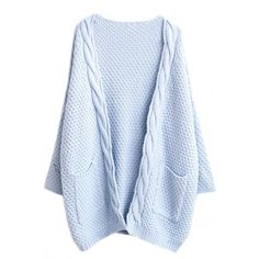 Casual Solid Knitting Ribbed Woman Cardigan (355 CZK) ❤ liked on Polyvore featuring tops, cardigans, outerwear, sweaters, jackets, light blue, ribbed knit cardigan, blue cardigan, long sleeve knit cardigan and v-neck tops