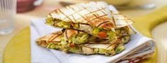 Chicken and avocado quesadilla.