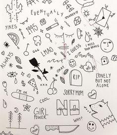Anotha flash sheet ⚡️ … Tattoo Style - tattoo style Flash Art Tattoos, Body Art Tattoos, Tattoo Flash Sheet, Tatoos, Stick Poke Tattoo, Kritzelei Tattoo, Doodle Tattoo, Mini Tattoos, Fake Tattoos