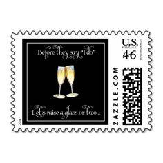 Rehearsal Dinner Wine Glass Wedding Stamp