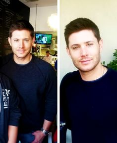 Jensen Ackles looking extra cuddly (Austin 12/06)