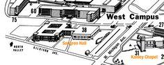1964 Western Michigan University Campus Map - 1964