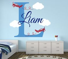 Airplanes Name Wall Decal from Lovely Decals World. Check this out!