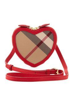 Burberry Girls Heart Crossbody Bag, Rose 21397bcd7b