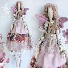 Купить или заказать Интерьерная кукла Тильда Эстель в интернет-магазине на Ярмарке Мастеров. Тильдочка Эстель Забавная куколка в сарафане, в чулочках и панталончиках с крылышками бабочки будет приятным дополнением интерьера или памятным подарком.