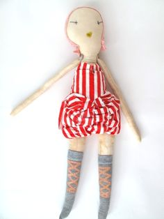 jess brown- red circus doll