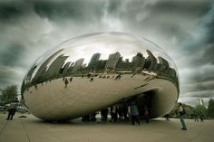 """Clowd Gate"" by Anish Kapoor"