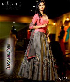 Whatsapp on 9496803123 to customise handwork and cutwork sarees, blouses, wedding sarees, ethnic gowns, kids dresses etc Half Saree Lehenga, Lehenga Gown, Lehnga Dress, Party Wear Lehenga, Anarkali, Lehenga Style, Kerala Engagement Dress, Engagement Dress For Bride, Half Saree Designs