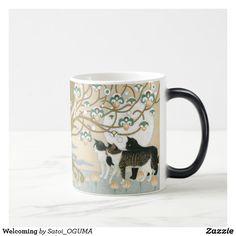 <Welcoming>Cute cats under the tree of life  Magic Mug by Satoi Oguma.