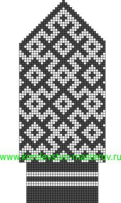Северные узоры для вязания спицами комплектов: шапок, шарфов, варежек, повязок на голову