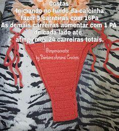 Arte com a Babi: Pap calcinha de biquíni
