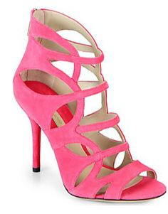 FALL SHOE COUNTDOWN: A surprising pop of pink from Michael Kors' fall shoe collection.