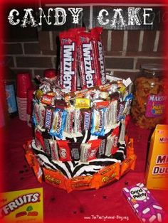 Candy Cake...Love this. My dad would love it also but my mom would have a frowny face if I made it for him.