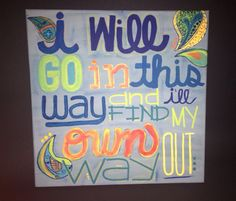 Dave Matthews Band 41 quote painting by MaeStreetDesigns on Etsy, $30.00