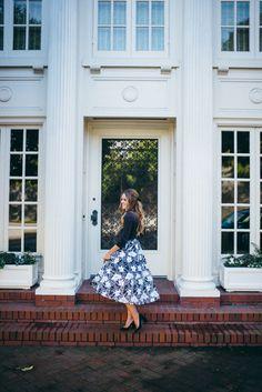 Gal Meets Glam Anthropologie Organza Floral Skirt