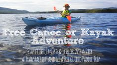 Book two nights on July 13th & 14th or 27th & 28th at our #Flagstaff Hut and enjoy a free #canoe or #kayak #paddle for the day with a guide!