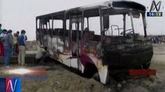 Trujillo: Extorsionadores incendiaron bus porque empresa no pagaba cupos
