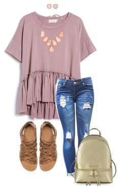"""""""Cute"""" by niaclaire ❤ liked on Polyvore featuring Zara, Monica Vinader, Kendra Scott and Michael Kors"""