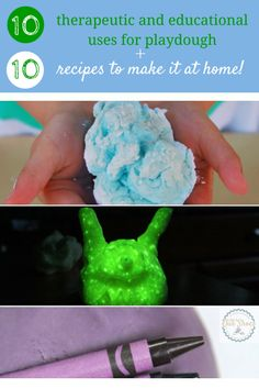 10 playdough recipes to make your own plus 10 ways to use playdough to make it therapeutic and educational for kids of all ages, including and especially children with special needs