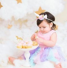 This outfit is perfect for photo shoots, first birthday celebrations or to share adorable pictures with family members on Instagram. Your party pack will contain a custom made unicorn headband in the size of your choice and a bespoke tutu both in a mixture of beautiful pastel shades of