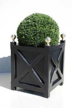 Wood planters | Accents of France - Treillage