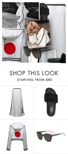 """""""Get the Look: Kylie Jenner"""" by smartbuyglasses-uk ❤ liked on Polyvore featuring Puma and E + J"""
