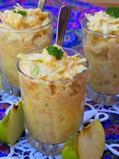 Makacska konyhája: Almás káposztasaláta Food Inspiration, Pudding, Salad, Desserts, Tailgate Desserts, Deserts, Custard Pudding, Puddings, Salads