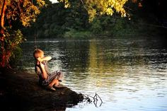 """The Big One That Got Away"" - Fishing on the Mississippi River at Two Rivers Campground in Royalton by: Jill, Albany.  Top Ten winner in 2011 Staycation photo contest"