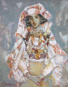 Albanian bride from Zadrima. 1988, Ismail Lulani