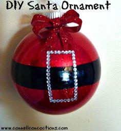 DIY Santa Christmas Ornament | Connell Concoctions