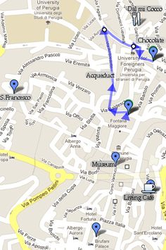 What to do in Perugia in a One-Day Visit Student Guide, Florence, Budgeting, Places To Go, University, Italy, Map, Ideas, Italia