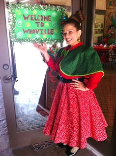 whoville christmas costumes How the Grinch Stole Christmas Whoville costume Grinch Christmas Party, Grinch Who Stole Christmas, Christmas Party Decorations, Christmas Costumes, Office Decorations, Office Christmas, Christmas Parties, Christmas Ideas, Whoville Costumes