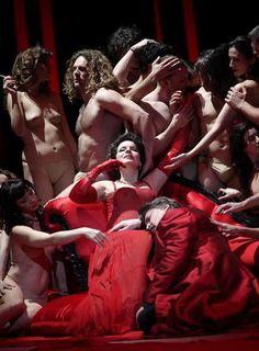Tannhäuser by Wagner, Madrid, 2012. Soprano Petra Maria Schnitzer