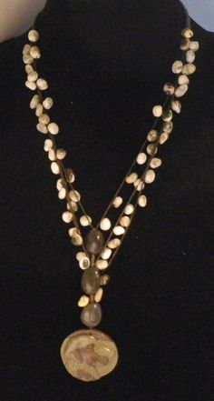 Unique Upscale Boutique Necklace With Carved Retriever $45.00