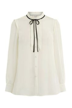 Oasis, DANDY TIE BLOUSE Off White 0