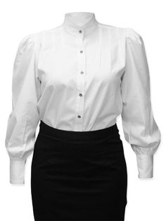 Classic Gibson Girl Blouse - White- also in black