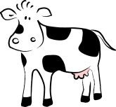 cow head drawing outline | Simple Cow Drawing