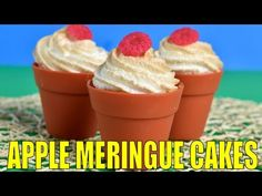 I made Apple Cream Cheese Meringue Cakes. In this video I show you step by step how to make the cake batter, fillings and easy meringue topping for these scr...