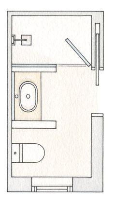 3 baños pequeños con ducha muy bien resueltos · ElMueble.com · Cocinas y baños #bañospequeños