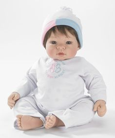 Look what I found on #zulily! Brown-Haired Interactive Babble Baby 19'' Munchkin Doll #zulilyfinds
